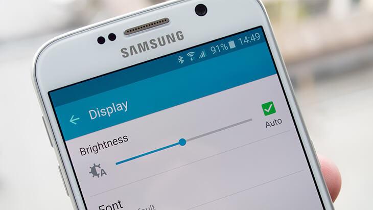 Brillo de la pantalla del Galaxy S6