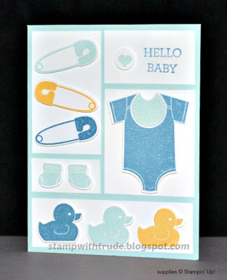 Something for Baby, Stampin Up, Stamp with Trude, baby card, catalog CASE