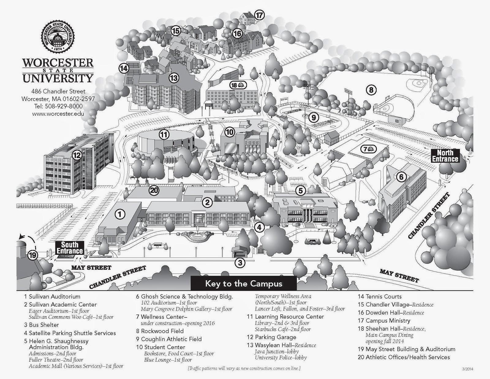 worcester university campus map Massachusetts Association Of Student Councils 2014 worcester university campus map