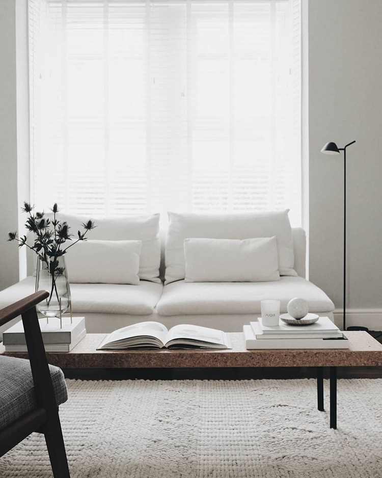 Scandinavian living room. Photo by Charlotte King of Le Petit Fika