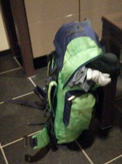 Rucksack ready on the final night