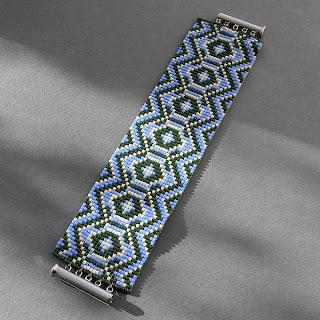 купить широкий женский браслет из бисера на руку фото цена ру россия