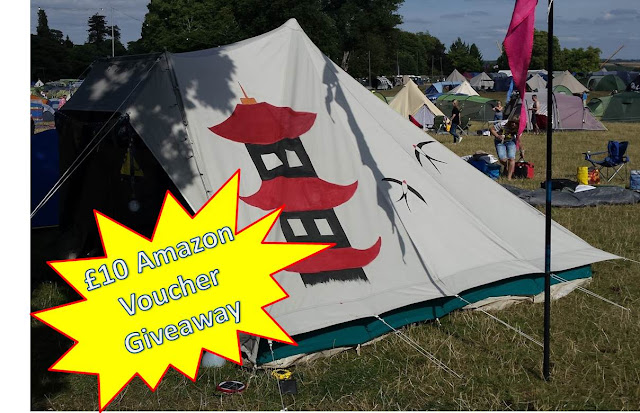 tent with flash giveaway £10 voucher