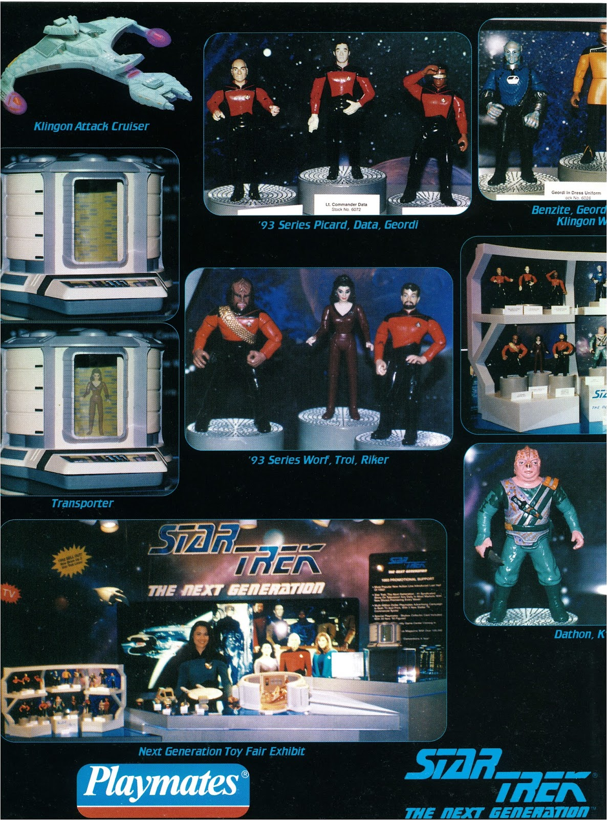 Star Trek The Next Generation Prototype Action Figure Playmates Toy Fair Playmates