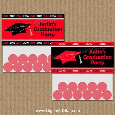 Printable Class of 2016 Graduation Goodie Bag Toppers