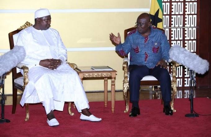 Gambia's Adama Barrow meets Akufo-Addo