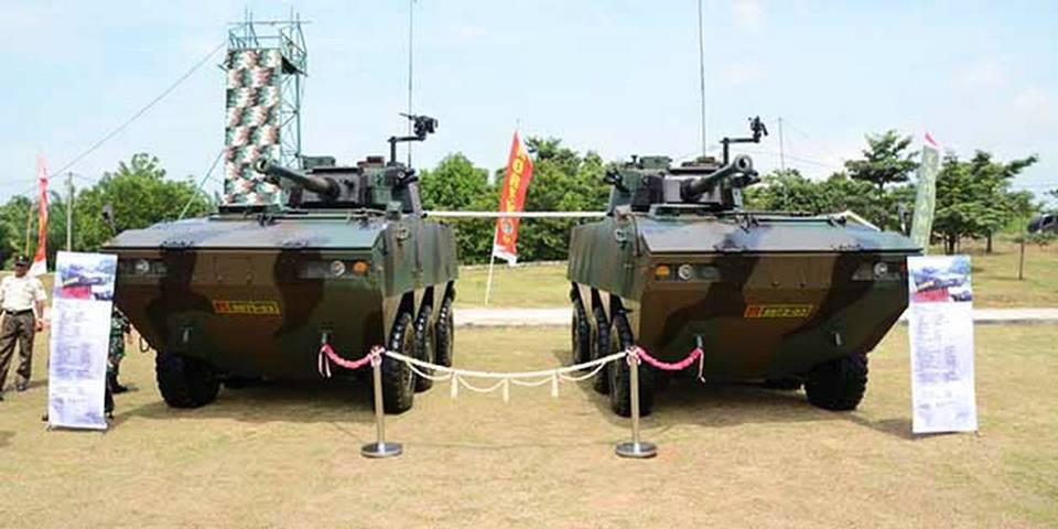 2 Panser Tarantula untuk Kodam II Sriwijaya