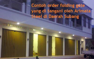 harga folding gate Arimata di Subang