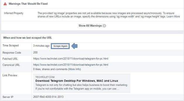 Facebook scraper