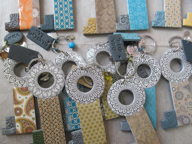 hillovely,hilla bushri, polymer clay, fimo, transfer paper, fimo keys chain, polymer clay keys ch
