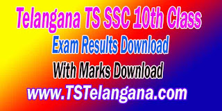 Telangana TS SSC 10th Class Exam Results With Marks Download
