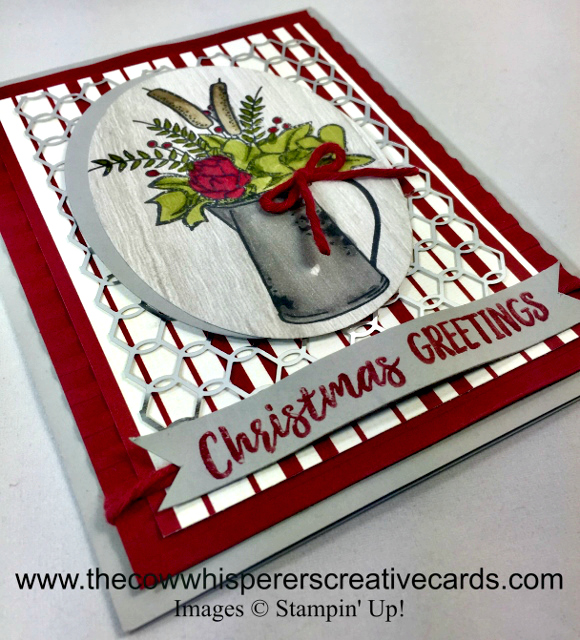 Card, Country Home, Chicken Wire Elements, Corrugated Embossing Folder