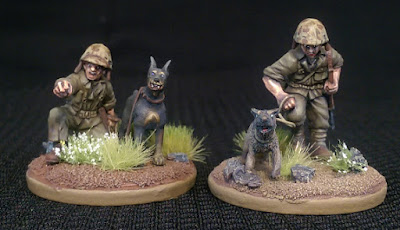Marine War Dog Doberman German Shepherd 28mm