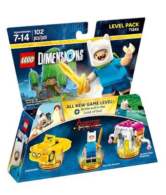 TOYS : JUGUETES - LEGO Dimensions  71245 Hora de Aventuras : Level Pack | Finn  Figuras - Muñecos - Videojuegos | 2016  Piezas: 102 | Edad: 7-14 años  Comprar en Amazon España & buy Amazon USA