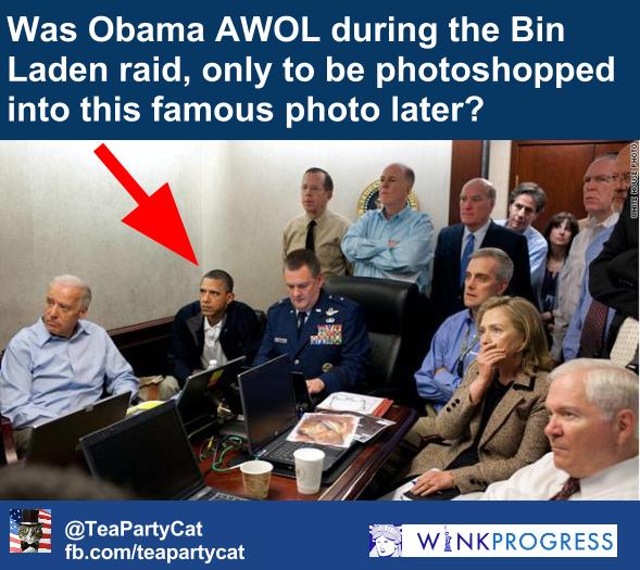 White House Situation Room Photo Fake