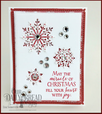 Our Daily Bread Designs Stamp Set: Merry & Bright, Our Daily Bread Designs Custom Dies: Snow Crystals, Snowflake Sky, Pieced Rectangles, Our Daily Bread Designs Paper Collection: Snowflake Season