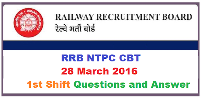 rrb-ntpc-28-march-2016-question-answers