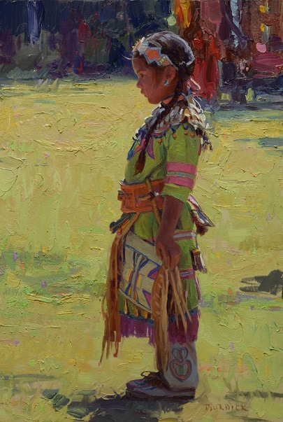 "by Scott Burdick, ""Watching the Dance"" - oil on canvas  