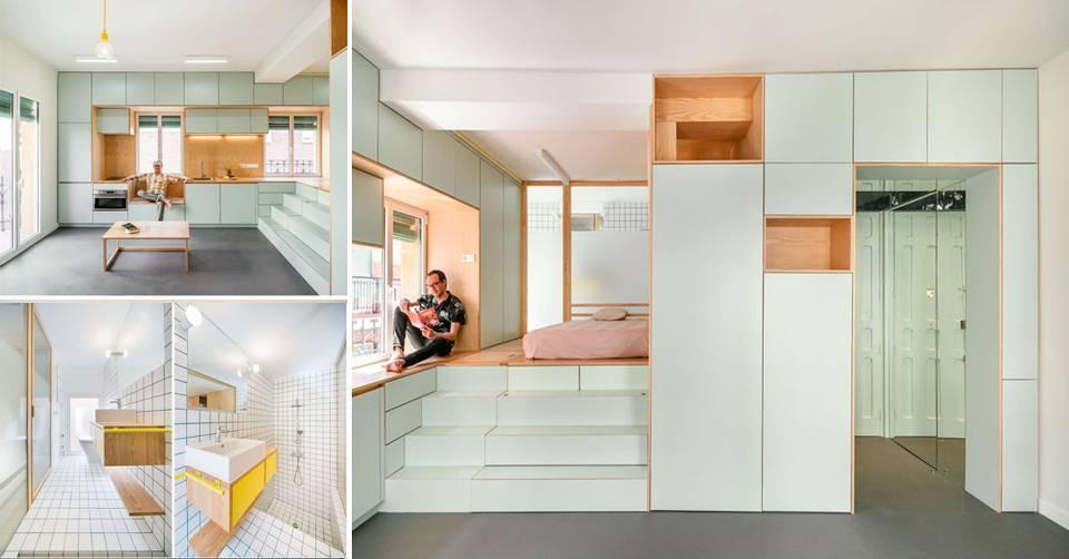 0%2BThe%2BDesign%2BOf%2BThis%2BRenovation%2BSmall%2BApartment%2BIncludes%2BMany%2BCreative%2BStorage%2BSolution%2BIdeas The Design Of This Renovation Small Apartment Includes Many Creative Storage Solution Ideas Interior