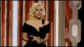 Lady Gaga en los Globos de Oro 2016