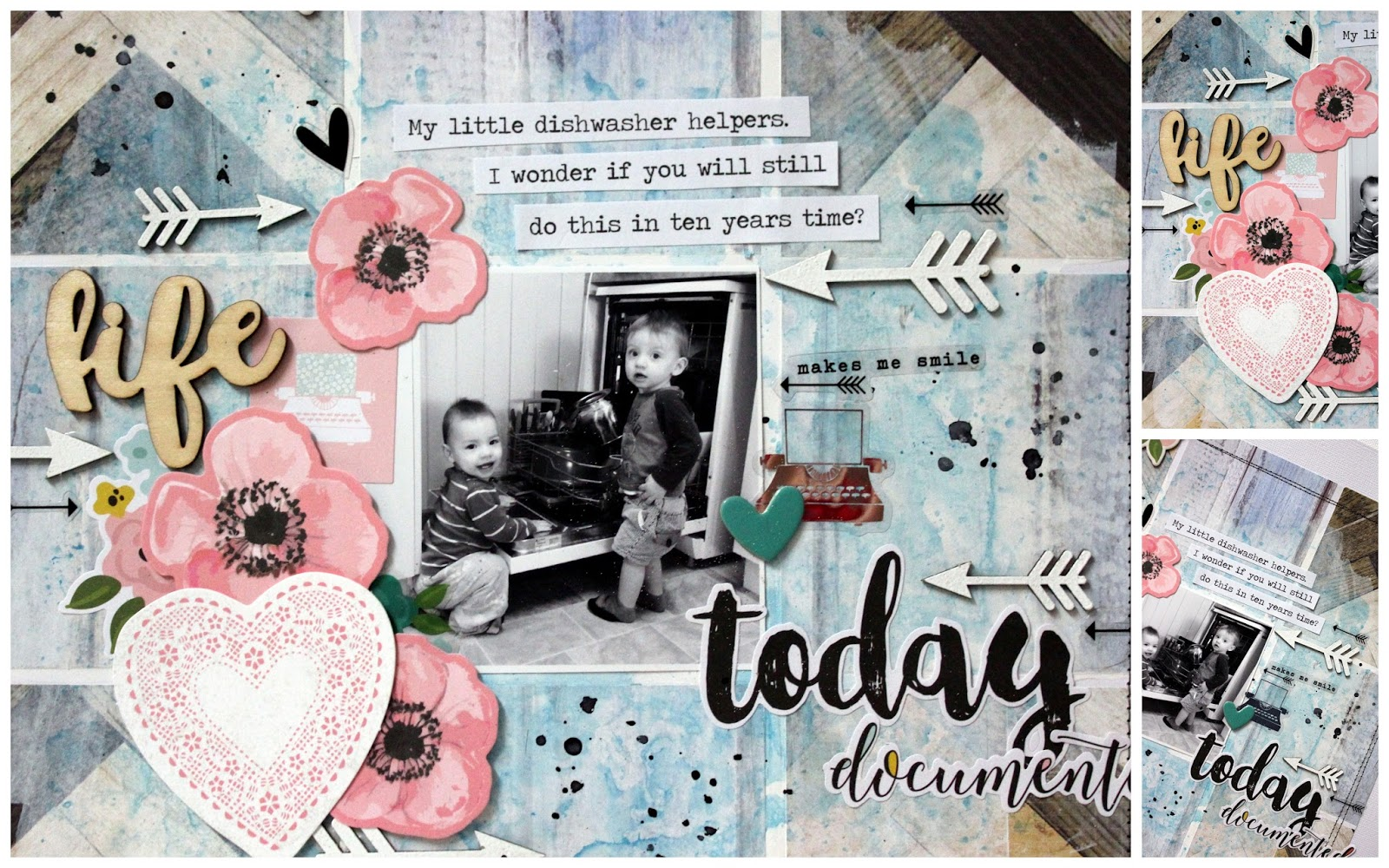 How to delete scrapbook photos google+ - I Have To Admit I Rarely Use Pink With A House Full Of Boys It Doesn T Feature Often In My Pages But I M Pleasantly Surprised At The Little Pop Of Colour
