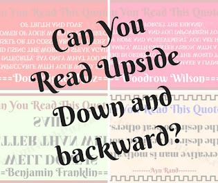 Upside down and backward reading challenges to twist your brain