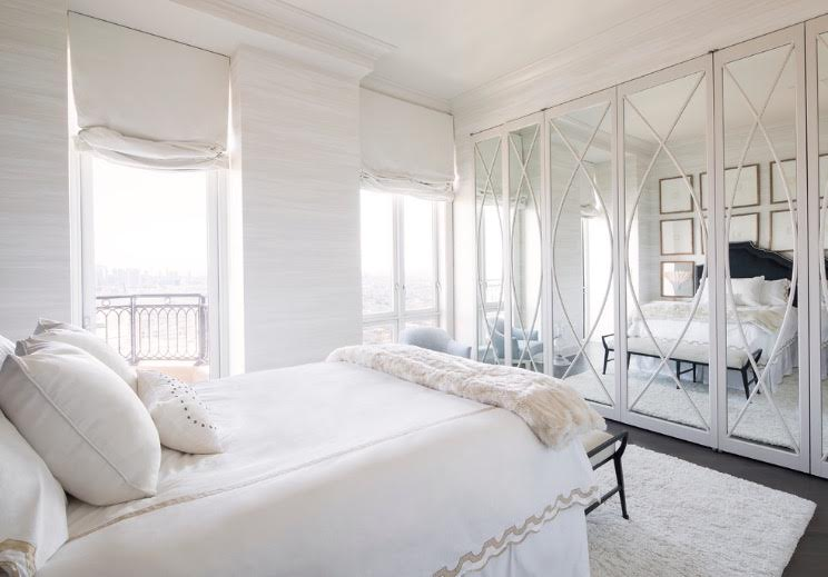The Light And Airy Color Choices Certainly Do So, And The Custom Headboard  And Grasscloth Wallcoverings Add A Sophisticated Touch Of Texture To The  Room.