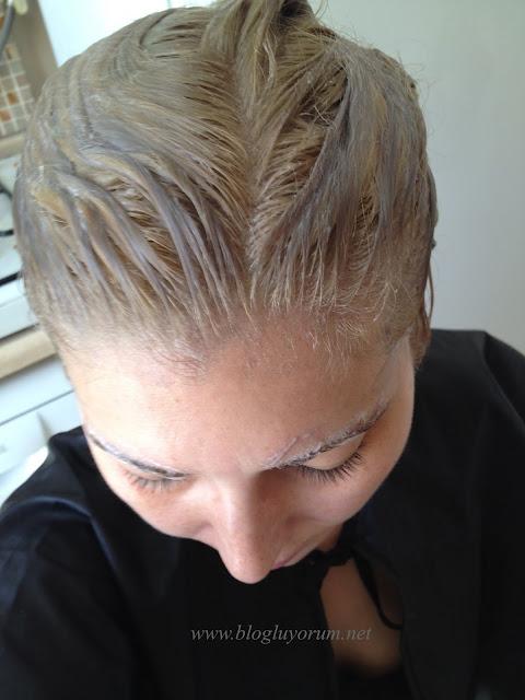 saçı açarak Palette Deluxe 10-2 Platin Sarı boyama 1