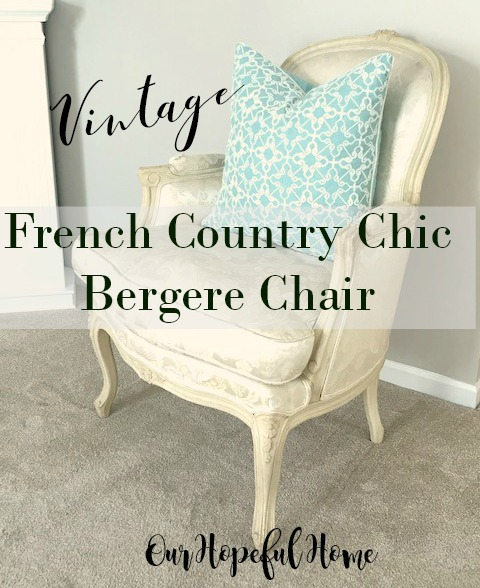 vintage bergere chair French