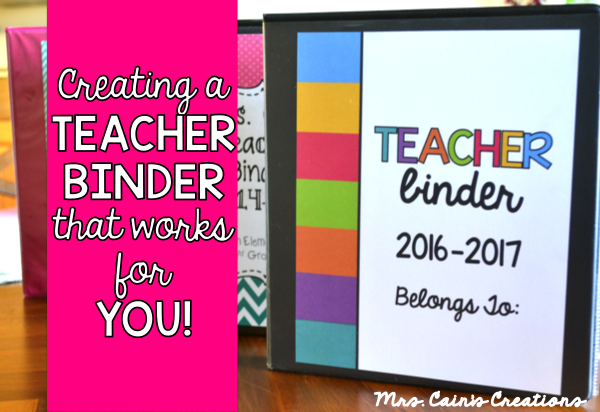mrs cain s creations creating a teacher binder that works for you