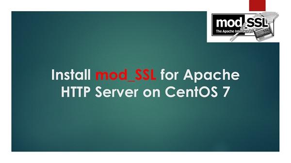 Install mod_SSL for Apache HTTP Server on CentOS 7