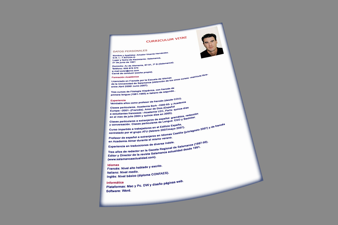 Como se acomoda un Curriculum Vitae - Todo Empleo | Consejos para tu ...