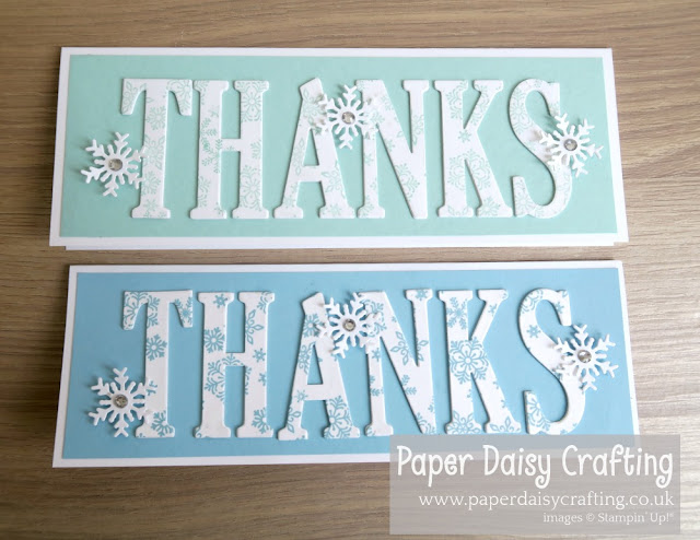 Blizzard, Large Letters, Stampin Up