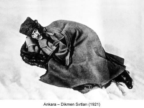 Atatürk Dikmen Sırtları 1921 Fotoğraf