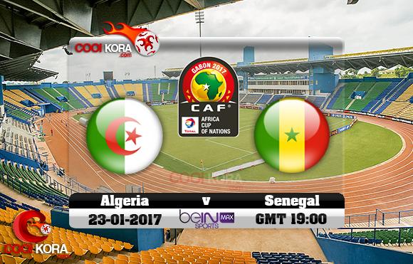 مشاهدة مباراة الجزائر والسنغال اليوم كأس أمم أفريقيا 23-1-2017 علي بي أن ماكس