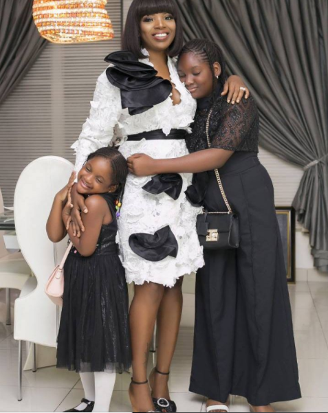 Annie Idibia and daughters