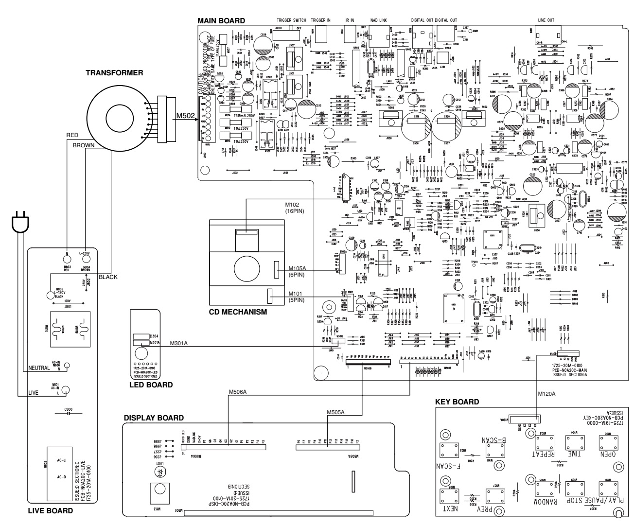circuit board diagram main pcb schematic diagram