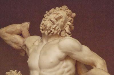 Detalhe da cabeça do Laocoonte