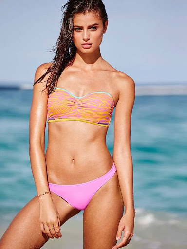Taylor Hill sexy bikini body photo shoot for Victoria's Secret swimwear models