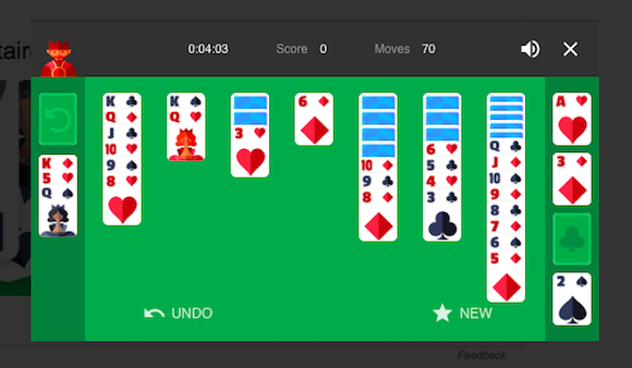 Solitaire Google