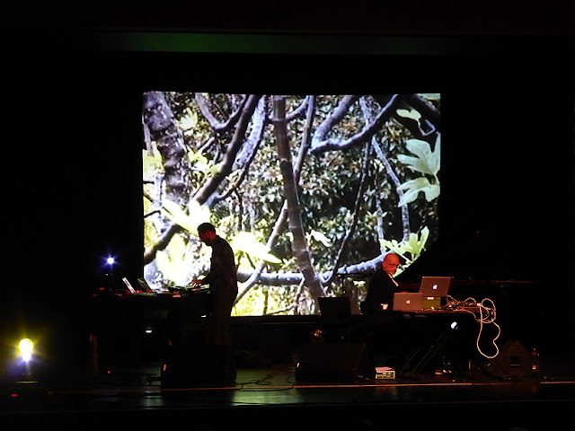 Hans-Joachim Roedelius & Ulrich Schnauss live @ Electronic Circus 2016 / photo S. Mazars