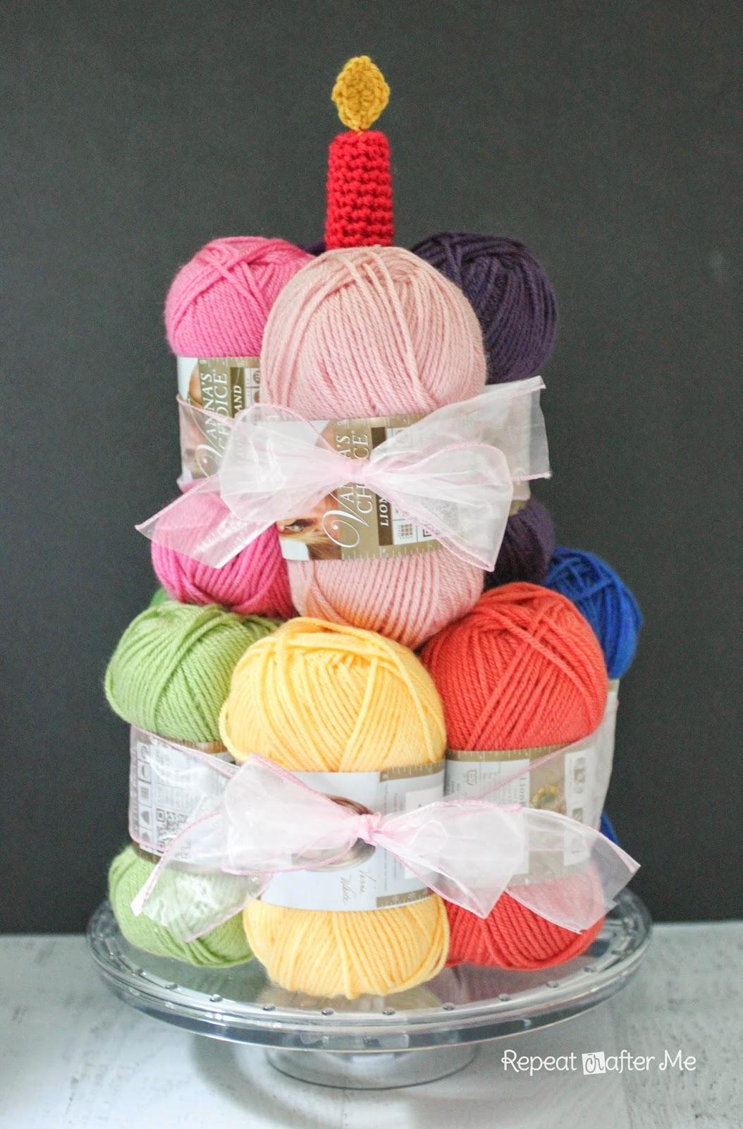 Happy Birthday Crochet Cake