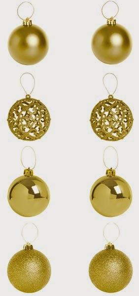 Primark Navidades: set de bolas doradas