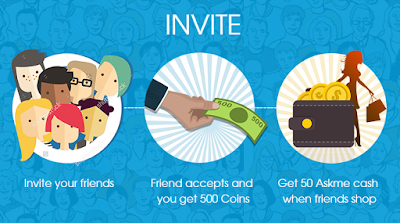 Get Free Rs.100 on Just Sign up + Free Rs.25 Askme Cash on Each Referral (Loot)