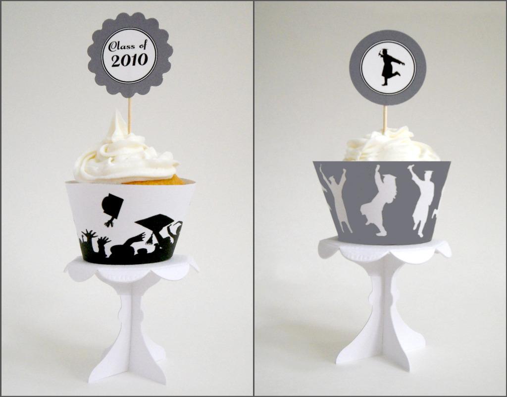 Domestic Charm Free Graduation Cupcake Printables