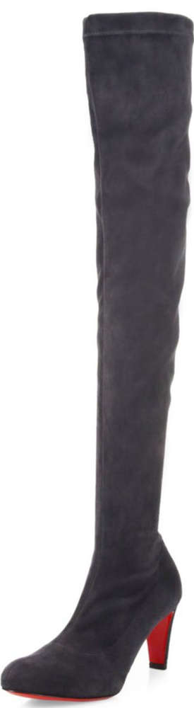 Christian Louboutin Alta Suede Over-The-Knee Boots