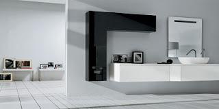 Baño color blanco negro