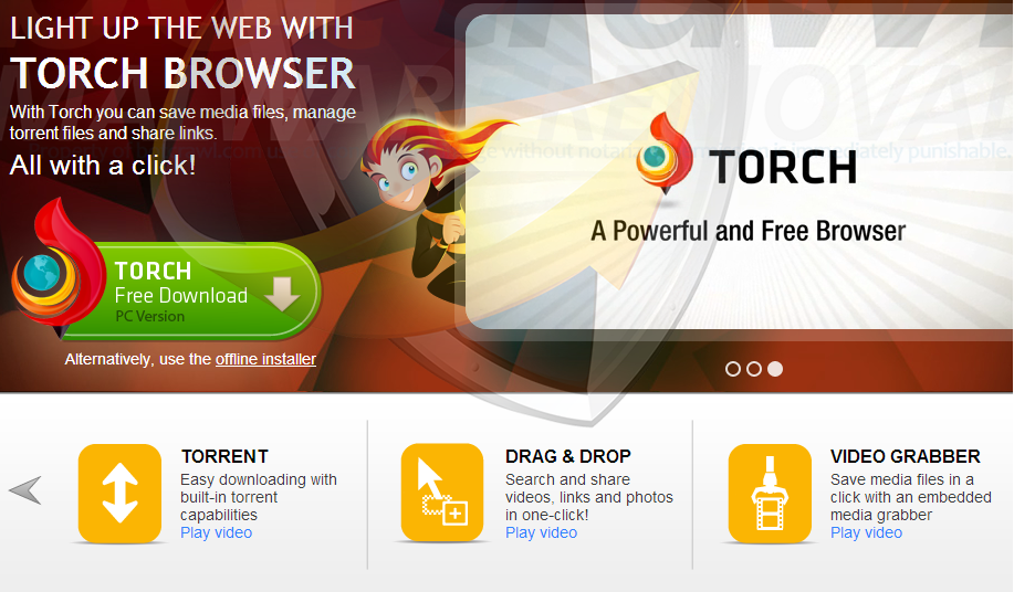 Torch Browser, Browser Fitur Lengkap