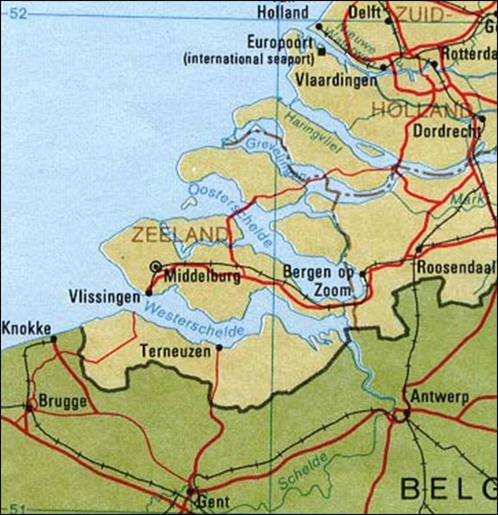 industrie gebieden kaart
