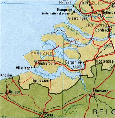 Maps, Atlases & Globes Knowledgeable Netherlands Antiques Middelbourg 1909 Old Antique Vintage Map Plan Chart